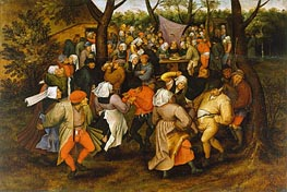 Pieter Bruegel the Younger | Peasant Wedding Dance, 1607 | Giclée Canvas Print