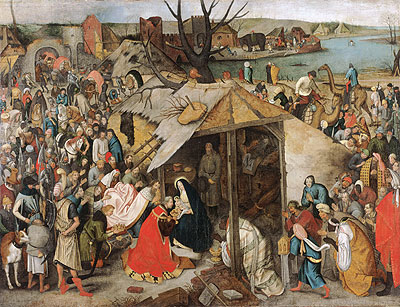 The Adoration of the Magi, c.1595 | Pieter Bruegel the Younger | Giclée Canvas Print