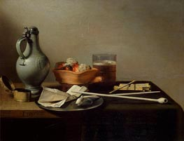 Pieter Claesz | Still Life with Clay Pipes, 1636 | Giclée Canvas Print