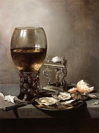 Pieter Claesz | Still Life with Oysters, 1643 | Giclée Canvas Print