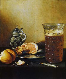 Pieter Claesz | Still Life with a Ham, 1642 | Giclée Canvas Print
