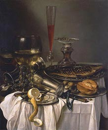 Pieter Claesz | Breakfast with Fish | Giclée Canvas Print