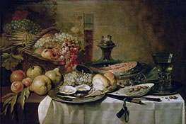 Pieter Claesz | Still Life with Salmon, c.1651 | Giclée Canvas Print