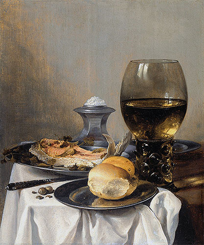Still Life with Saltcella, c.1640/45 | Pieter Claesz | Painting Reproduction