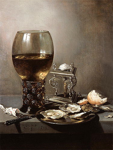 Still Life with Oysters, 1643 | Pieter Claesz | Painting Reproduction