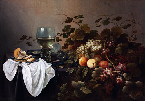 Still Life with Fruit and Roemer, 1644 | Pieter Claesz | Giclée Canvas Print