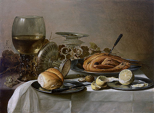 Still Life with Roemer, 1647   Pieter Claesz   Painting Reproduction