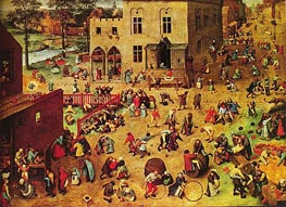 Bruegel the Elder | Children's Games | Giclée Canvas Print