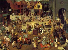 Bruegel the Elder | The Fight Between Carnival and Lent | Giclée Canvas Print