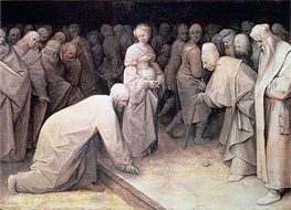 Bruegel the Elder | Christ and the Woman taken in Adultery, 1565 | Giclée Canvas Print