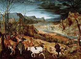 Bruegel the Elder | The Return of the Herd (Autumn), 1565 | Giclée Canvas Print