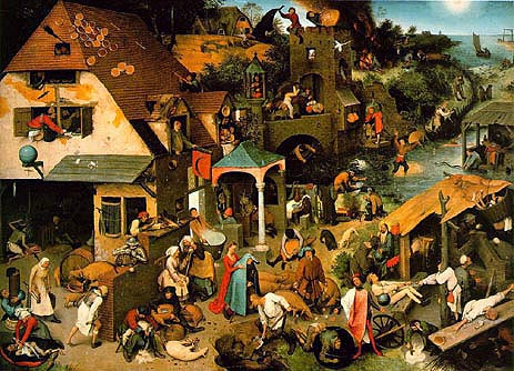 Netherlandish Proverbs, 1559 | Bruegel the Elder | Giclée Canvas Print