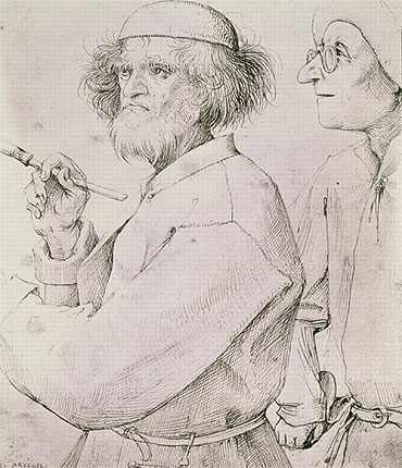 The Painter and the Art Lover, c.1565 | Bruegel the Elder | Painting Reproduction