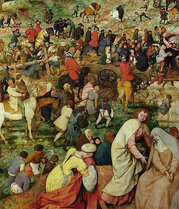 The Procession to Calvary (Detail), 1564 | Bruegel the Elder | Giclée Canvas Print