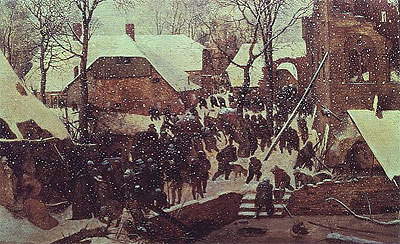 Adoration of the Magi in Winter Landscape, 1567 | Bruegel the Elder | Painting Reproduction