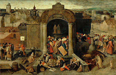 Christ Driving the Traders from the Temple, undated | Bruegel the Elder | Giclée Canvas Print