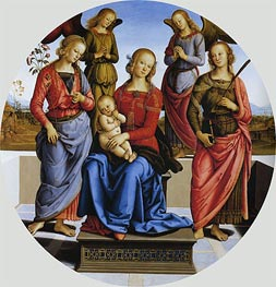 Perugino | Madonna and Child with St. Rose and Catherine of Alexandria | Giclée Canvas Print