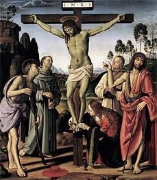 Perugino | The Crucifixion with Saints Jerome, Francis, Mary Magdalene, John the Baptist and the Blessed Giovanni Colombini | Giclée Canvas Print