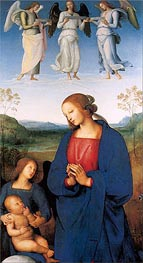 Perugino | The Virgin and Child with an Angel (Certosa Altarpiece), c.1496/00 | Giclée Canvas Print