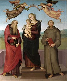 Perugino | The Virgin and Child with Saints Jerome and Francis, c.1507/15 | Giclée Canvas Print