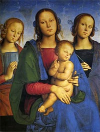 Perugino | Madonna and Child with St. Catherine and St. Rosa, 1493 | Giclée Canvas Print