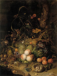 Rachel Ruysch | Fruit, Flowers, Reptiles and Insects on the Edge of the Forest, 1716 | Giclée Canvas Print