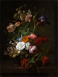 Rachel Ruysch | Vase with Flowers, 1700 | Giclée Canvas Print