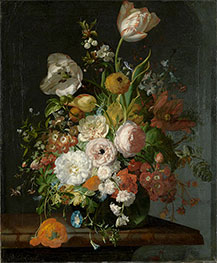 Rachel Ruysch | Still Life with Flowers in a Glass Vase, Undated | Giclée Canvas Print
