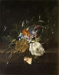 Rachel Ruysch | A Still-Life with a Spray of Flowers, c.1685/00 | Giclée Canvas Print