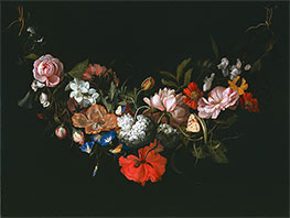 Rachel Ruysch | Garland of Flowers, 1683 | Giclée Canvas Print