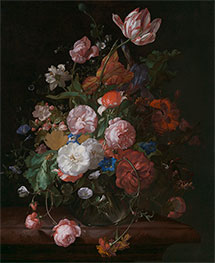 Rachel Ruysch | Still Life with Flowers, 1709 | Giclée Canvas Print