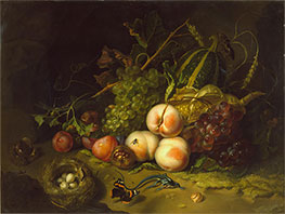 Rachel Ruysch | Still-Life with Fruit, Flowers and Insects, c.1711 | Giclée Canvas Print