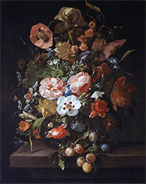 Rachel Ruysch | Still Life with Flowers and Fruits, 1703 | Giclée Canvas Print