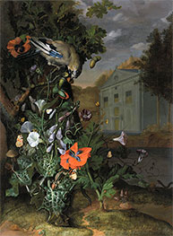 Rachel Ruysch | Forest Floor with a Classical Facade Beyond, Undated | Giclée Canvas Print