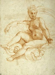 Raphael | Venus Seated on Clouds | Giclée Canvas Print