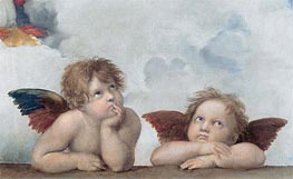 Raphael | Putti (Detail from The Sistine Madonna), 1513 | Giclée Canvas Print