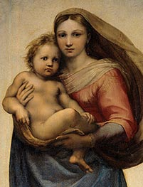 Raphael | The Sistine Madonna (Detail), 1513 | Giclée Canvas Print