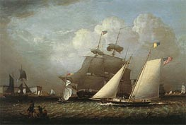 Robert Salmon | Picture of the 'Dream' Pleasure Yacht, 1839 | Giclée Canvas Print