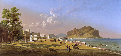 View of Palermo, 1845 | Robert Salmon | Giclée Canvas Print
