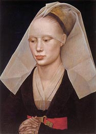 van der Weyden | Portrait of a Lady | Giclée Canvas Print