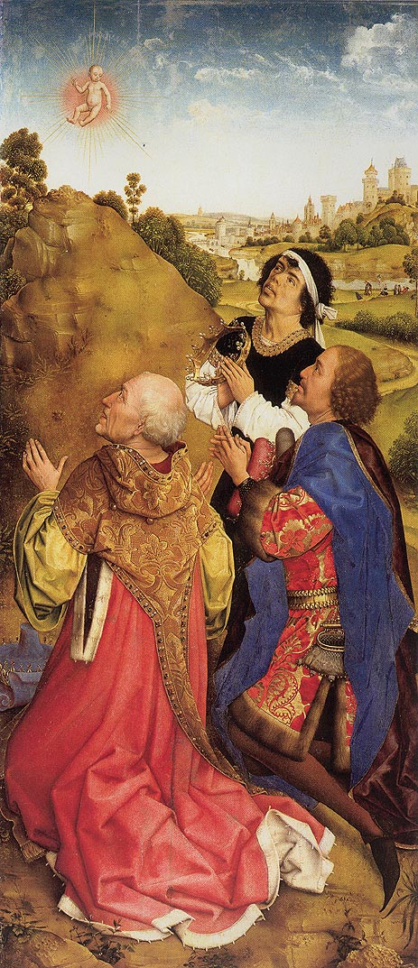 van der Weyden | Three Magi, c.1445/48 | Giclée Canvas Print