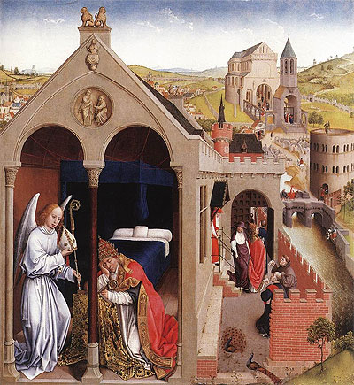 Dream of Pope Sergius, c.1437/40 | van der Weyden | Painting Reproduction