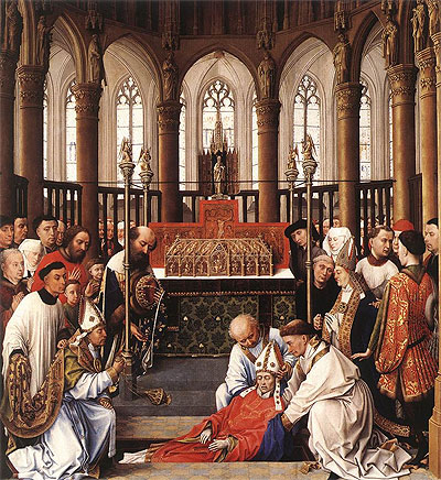 The Exhumation of Saint Hubert, c.1430/40 | van der Weyden | Giclée Canvas Print
