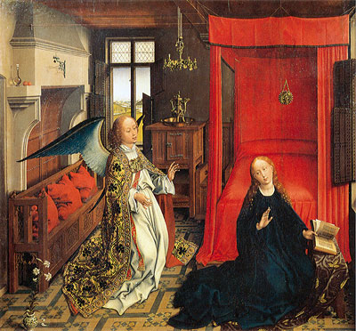 The Annunciation, undated | van der Weyden | Giclée Canvas Print