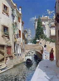 Rubens Santoro | Venetian Canal with the Campanile of the Frari, Undated | Giclée Canvas Print