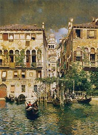Rubens Santoro | Leaving a Residence on the Grand Canal, undated | Giclée Canvas Print