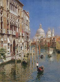 Rubens Santoro | The Grand Canal, Venice, undated | Giclée Canvas Print