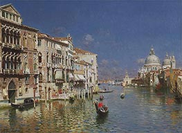 Rubens Santoro | Gondola Ride, the Grand Canal, Venice, undated | Giclée Canvas Print