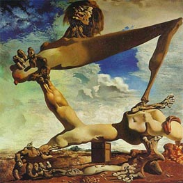 Dali | Soft Construction with Boiled Beans - Premonition of Civil War | Giclée Canvas Print