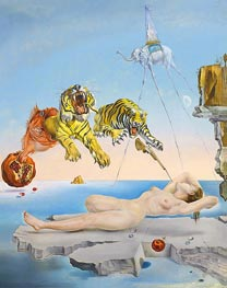 Dali | Dream caused by the Flight of a Bee around a Pomegranate a Second before Wakening up, 1944 | Giclée Canvas Print